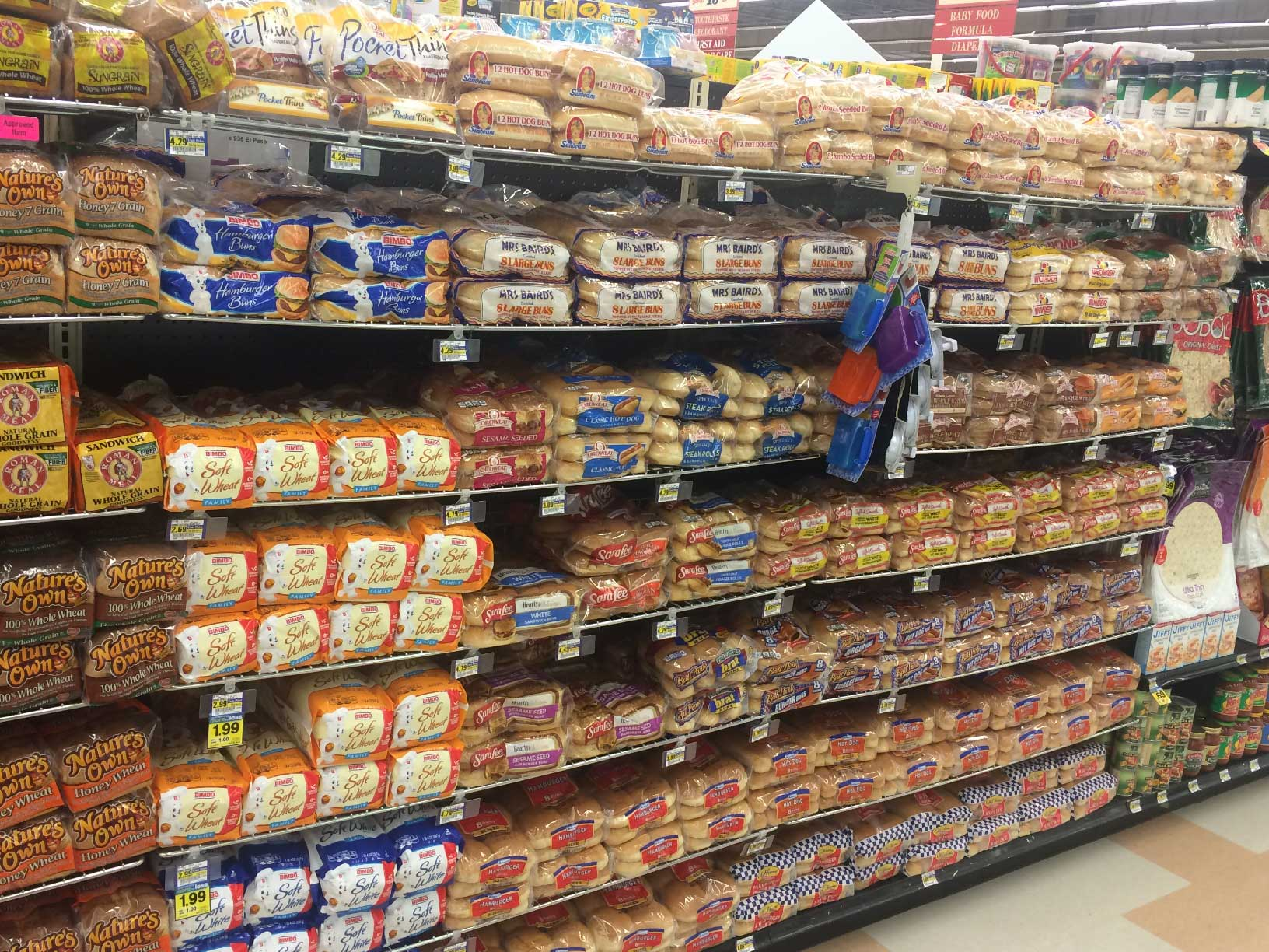 Grocery Store Bread Aisle